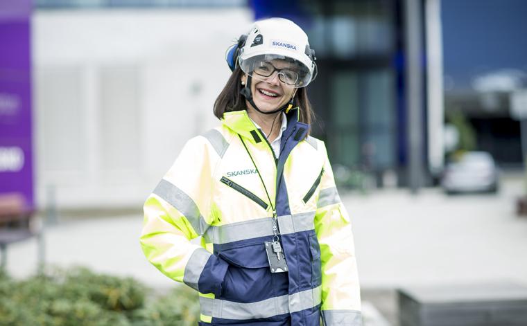 Skanskan työhyvinvointipäällikkö Helena Pekkanen