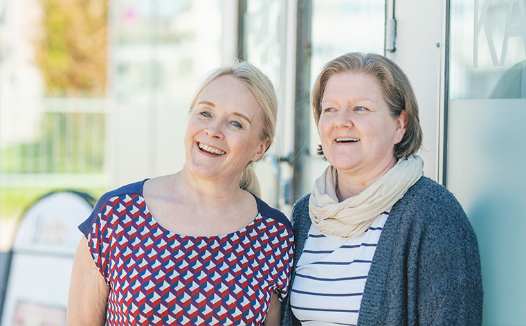 Sirkka Suomi ja Birgitta Ylilehto.
